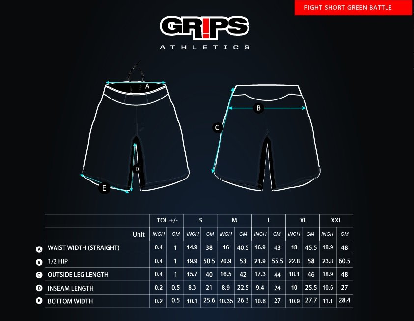 Grips Fightshort Red Dragon