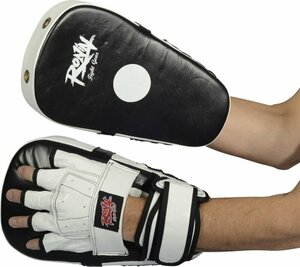 Ronin Coaching Mitts Long Curved - Zwart/Wit