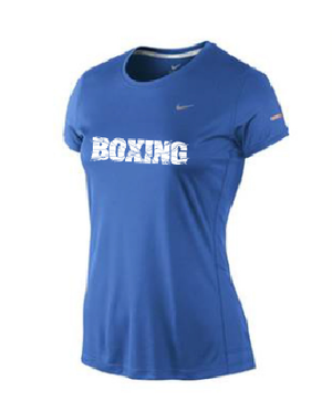 NIke Lady SS Crew Top Navy Blue