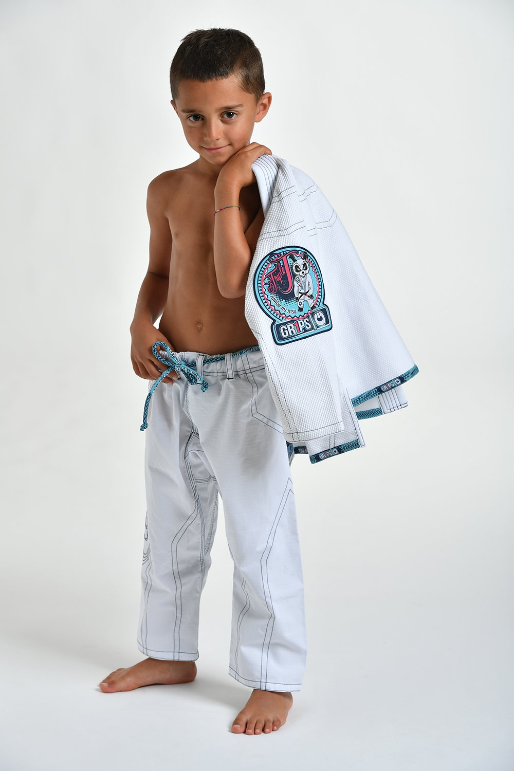 Gr1ps BJJ pak Kids Triple-J wit