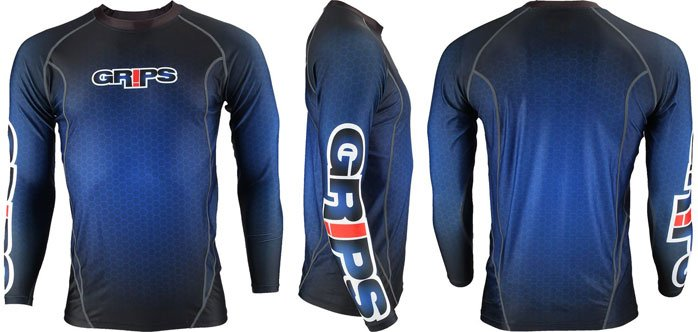 GRIPS® Rashguard Long Sleeve Blue