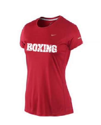 NIke Lady SS Crew Top Red